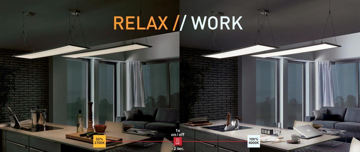 Eglo LED RW Relax and Work 2700K 4000K választható fehér lámpák